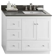Shaker Bathroom Vanity Cabinets by Ronbow Vanity Cabinet Base White Finish 36