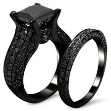 black wedding ring amiery black gold sapphire princess cut cz wedding