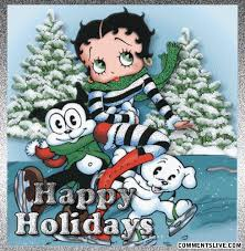 happy holidays betty boop happy holidays picture