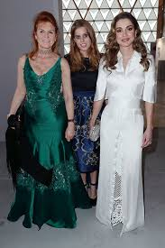 princess beatrice sarah ferguson and queen rania at cannes