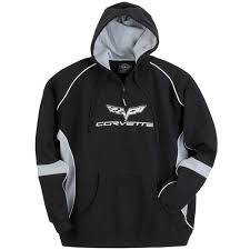 corvette hoodie c6 corvette black and gray hoodie sweatshirt corvette depot
