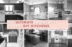 kitchen cabinet design diy 10 diy kitchen before afters that are serious eye