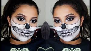 Halloween Skull Makeup Tutorial Glitter Skull Halloween Makeup Tutorial Dana Renee Makeup Youtube