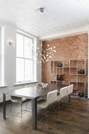 brick wall in dining room 9177