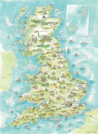 Map England by Painted England Kate Chidley
