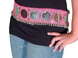 Large Mirror Size Tribal Belly Dance Belt Large Mirror Work Fashion Dress