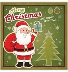 merry christmas card with abstract christmas tree vector image