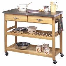 vintage style unfinished wood portable kitchen cart utility mobile