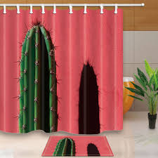 popular shower curtain sets buy cheap shower curtain sets lots tip of a cactus bed bath shower curtain sets waterproof fabric with 12 hooks wts038