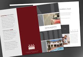 tri fold brochure template for insurance agent insurance agency