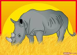 how to draw a rhinoceros step by step safari animals animals
