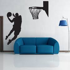 popular sports wall mural buy cheap sports wall mural lots from new arrived nba slam dunk basketball wall mural removable art vinyl wall decal room decorative sport