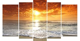 2017 lk564 5 panels large sunset living room canvas wall art