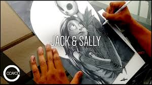 drawing jack and sally from the nightmare before christmas youtube