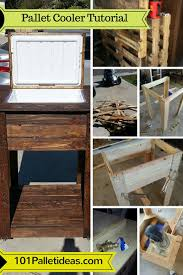 coffee table with cooler build a pallet cooler full tutorial