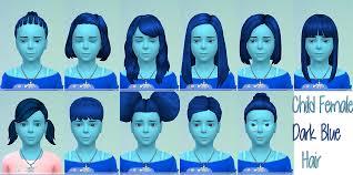sims 4 blue hair my sims 4 blog dark blue hair for girls by starssugarypixels