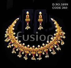 indian necklace set images Pearl choker south indian necklace set necklace sets fusion jpg