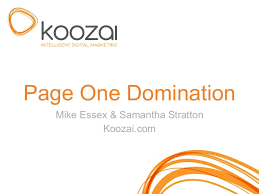 page one domination omn london
