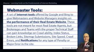 webmaster tools real estate seo short definition