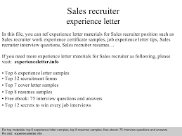 resume sles for accounting clerk interview questions salesrecruiterexperienceletter 140828105418 phpapp01 thumbnail 4 jpg cb 1409223283