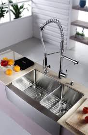 ceramic single hole kitchen sinks and faucets two handle pull down