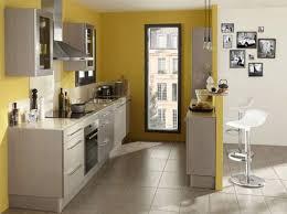 cuisine mur peinture murale cuisine jaune idée de modèle de cuisine