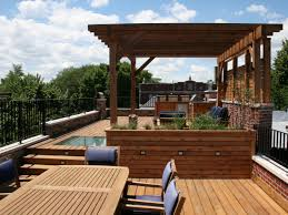 Covered Outdoor Grill Area by Photos Chicago Roof Deck Garden Hgtv