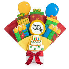 Cookie Gifts Happy Birthday Cookie Bouquets Happy Birthday Cookie Bouquet At