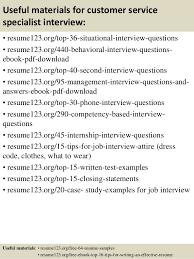 Customer Service Description For Resume Top 8 Customer Service Specialist Resume Samples
