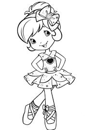 Strawberry Shortcake Ballerina Coloring Page Free Printable Ballerina Printable Coloring Pages