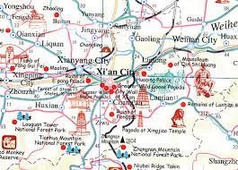 map of xi an xian tourist map xian attraction map xian attractions xian