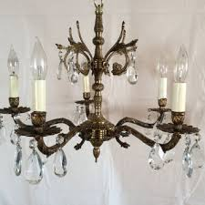 Antique Brass Chandelier Best Vintage Brass Chandelier Products On Wanelo