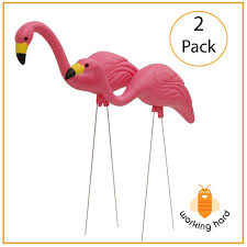 zombie flamingo spirit halloween garden solar white owl led light pests away outdoor decor lawn
