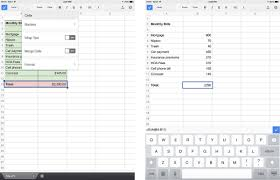 Spreadsheet App For Android Tablet Google Sheets For Iphone And Ipad Review It Imore