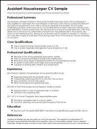 examples of housekeeping resumes create my resume best