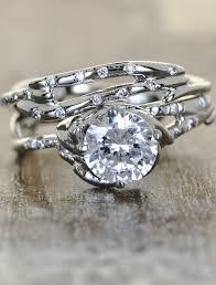 unique wedding ring daya sculptural diamond engagement ring ken design