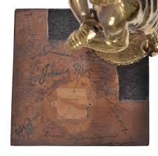Trophy Pedestal Robert Edward Auctions Unique Wooden Baseball Trophy Pedestal