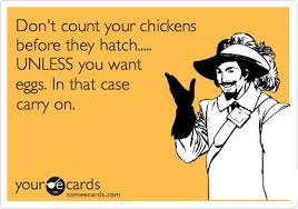 Don Count The Chicken Before They Hatch Carry On Lol Don T Count Your Chickens Before They Hatch