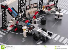 lego mclaren lego mclaren mercedes team crew members editorial stock photo