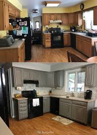oak kitchen cabinets painted grey oak kitchen cabinets painted chelsea gray funcycled