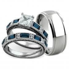 wedding rings his hers hers 3 antique design matching wedding rings