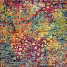 Multi Color Area Rugs Square Area Rugs Rugs The Home Depot