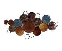 Inspiring Idea Metal Circle Wall Art Also Decor Circles Living