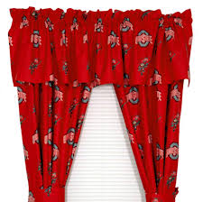 Ohio State Curtains Ohio State Buckeyes Window Treatments Curtains