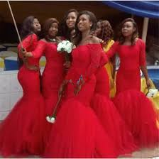 south africa style nigerian bridesmaid dresses plus size mermaid