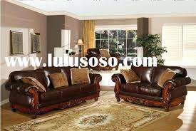 cream leather and wood sofa leather furniture with wood trim inspiring brown leather sofa set