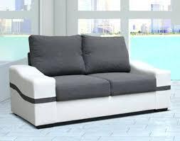 canapé blanc 2 places canape blanc canapac paros 2 places et noir pas cher d angle