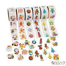 christmas stickers rolls of stickers assortment