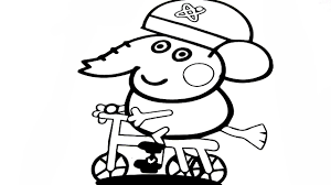 peppa pig edmond elephant coloring book pages coloring video for