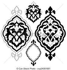 Pattern Ottoman Artistic Ottoman Pattern Series Twe Ornament And Design Vector